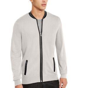 INC Men's Zip-Front Cardigan